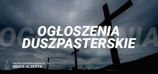 Ogłoszenia duszpasterskie – Wielki Post